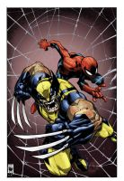 Joe mad Wolvy_Spidey_Inks by Ubermorte by RobTorres