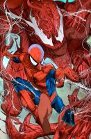 Spidey and Carnage by evnaccd