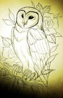 owl tattoo design by Proper-goodbye
