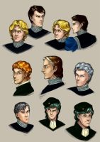 Empire and Alliance sketches by Janirah