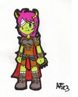 Paprika, orcish brawler chick by BeatIsMurder