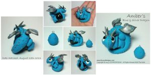 Amber's Blue and Silver Dragon by lizzarddesigns