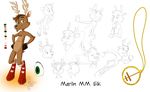 Marlin Elk Model Sheet by KicsterAsh