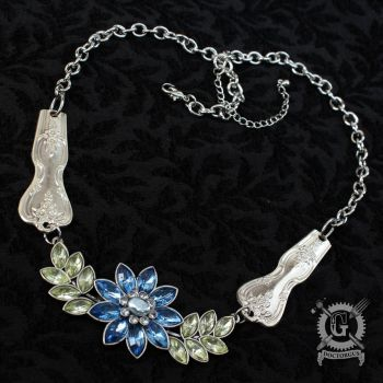 Magnolia Necklace with Crystal Flower by Doctor-Gus