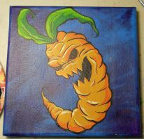 zombie carrot canvas by anthonyDeVito