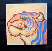 Tiger smirk painting by missmonster