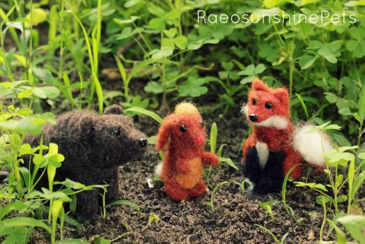 A Gathering  of Forest Creatures by RaeosunshinePets