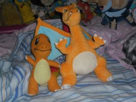 Charmander and Derpizard by SuperSonicFireDragon