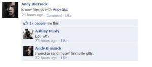 andy is friends with himself.. by BritishPieWTF