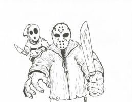 Jason and Shy Guy by kylemulsow