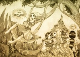 Rapunzel + Disney's Princesses by daekazu