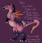 I saw a pterodactyl on the volcano! - Katie Ref by Zimerick