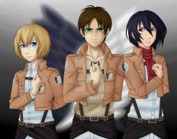Shingeki no Kyojin by ByLeapsAndBounds