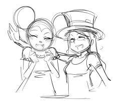Sketch : Julez and Victoria by ManiacPaint