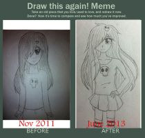 Draw this again Meme 2 by MegumiHeart