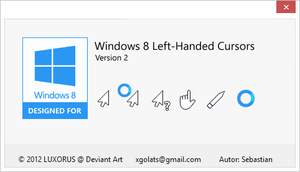 Windows 8 Left Handed Cursors v2 by luxorus