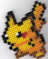 Pikachu Beadsprite by Spazzikisster
