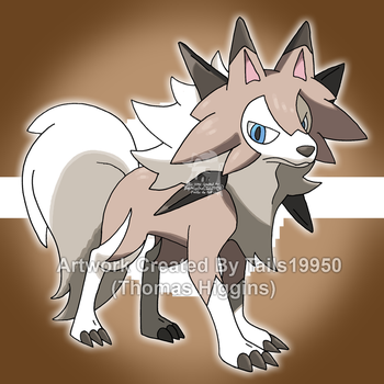 ??? - Lycanroc (Midday Form) by Tails19950