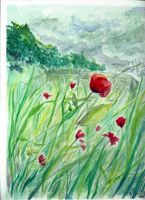 Monet's Poppy feild by 13halloween