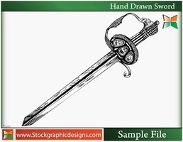 Hand Drawn Sword-Brush by Stockgraphicdesigns