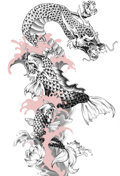 Koi Dragon [Finished] by blackXXraine