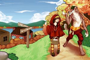 Stroll with Red Riding Hood by GDBee