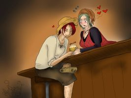 Makino And Shanks by SwordFire19