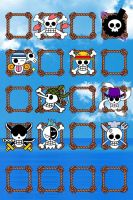 One Piece - The Straw Hats Jolly Rogers Wallpaper by TheScarecrowOfNorway