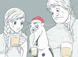 Frozen - Eggnog Party by Kc-Eazyworld
