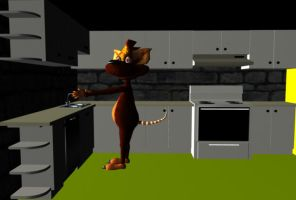 Rat in the Kitchen by Clukyrat