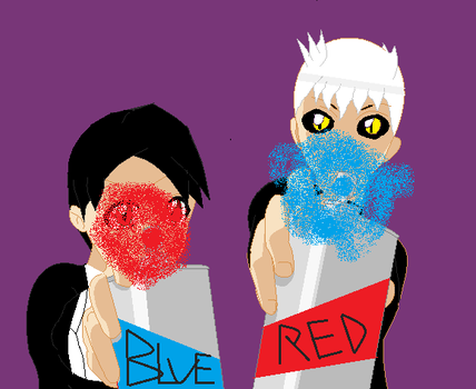 Paint the town blue and red ver. 2 by TwilightEtopis