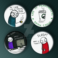 Insomniac Buttonset by princevansii