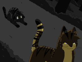 Darkstripe and Tigerstar by Miiroku