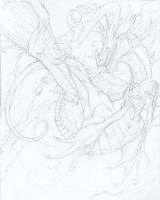 Eleethree WIP - Pencils by beastofoblivion