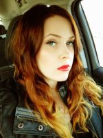Red lips and Ombre hair by MUA-Maano