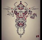 Bull tattoo design by foxxmax