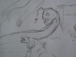 Greater Angler Eel sketch by pantophage