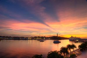 Sunset over Vivocity by Shooter1970