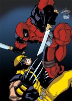 Wolvie and Deadpool Colours by ZeroEnd