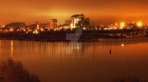 Cardiff Bay at Night by Kevin-Welch