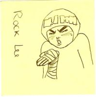 Rock Lee on a Post-it 8D by AryaHiwatari