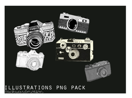 Clipart, camera's. Png pack. by meghjade