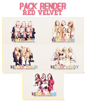Pack Render Red Velvet ( @HunhanStyle ) by HunhanStyle