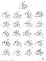 21 Male Dragon Heads... by Strecno