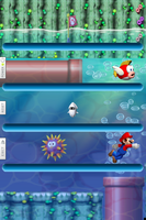 Super Mario Bros. Wii Shelf Wallpaper by bastian1967