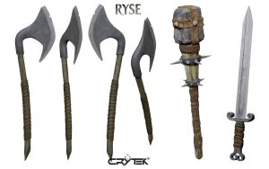 Ryse: Son of Rome, weapons by Je-huty