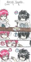 Making Friends- Gaara and L by SilverEyes-chan