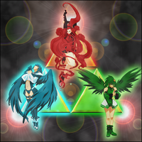 Goddess and Triforce Evolution by Linkain