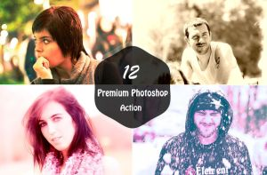10 day only Free12 Premium Photoshop Actions by symufa