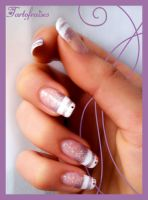 special french on long nails by Tartofraises